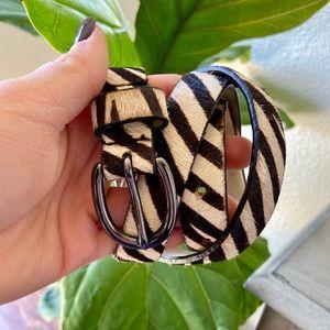 Accessories - Vintage Faux Zebra Leather Belt